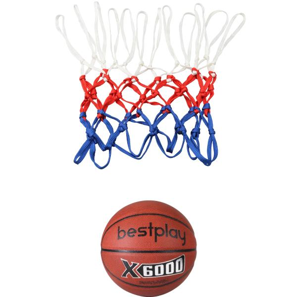 Basketball net + Bestplay basketball 5