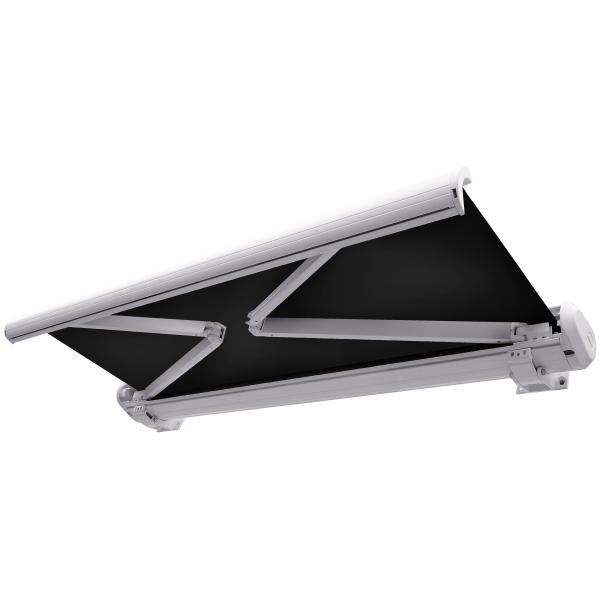 elektrisk markise lukket 250x200cm sort hvid k b din nye elektrisk markise lukket 250x200cm. Black Bedroom Furniture Sets. Home Design Ideas