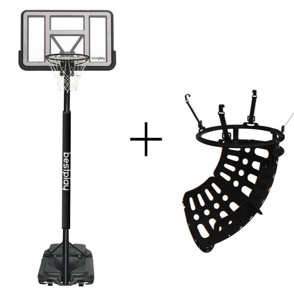 Bestplay LUX safe basketballstander + ball return basketballstander