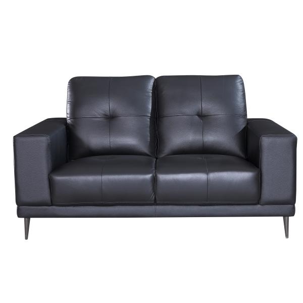 Bremen 2 pers. sofa læder sort sofa