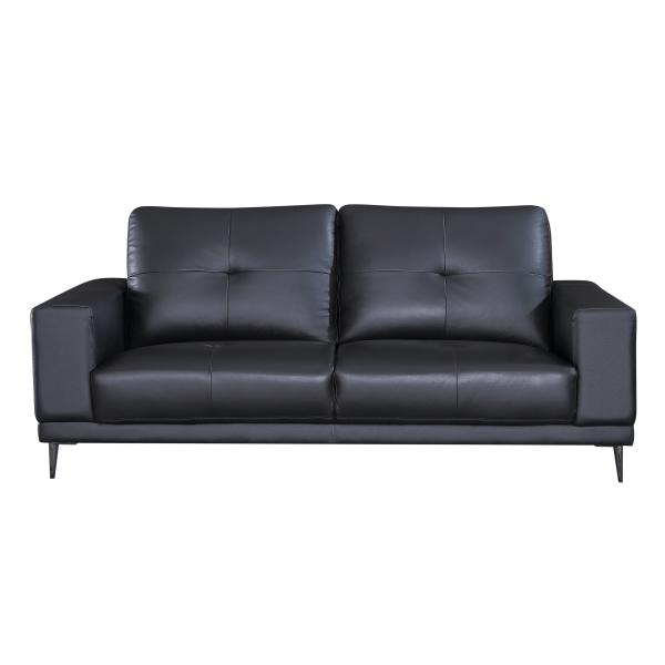 Bremen 3 pers. sofa læder sort sofa
