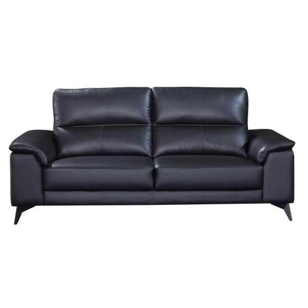 Pamplona 3 pers. sofa læder sort sofa