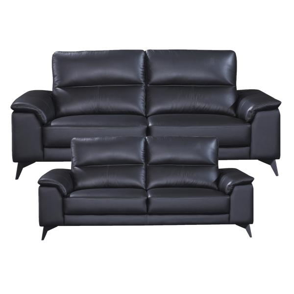 Pamplona 2+3 pers. læder sort sofa