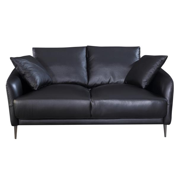 London 2 pers. sofa læder sort sofa