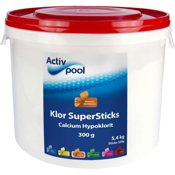 Swim & Fun ActivPool Klor SuperSticks 300g/5,4kg