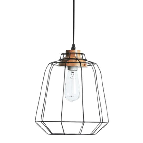 String pendel sort lampe