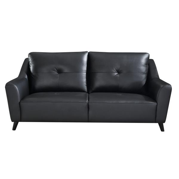 Nevada 3 pers. sofa læder sort sofa