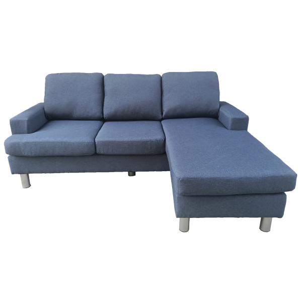 Boston chaiselong sofa denim blå sofa