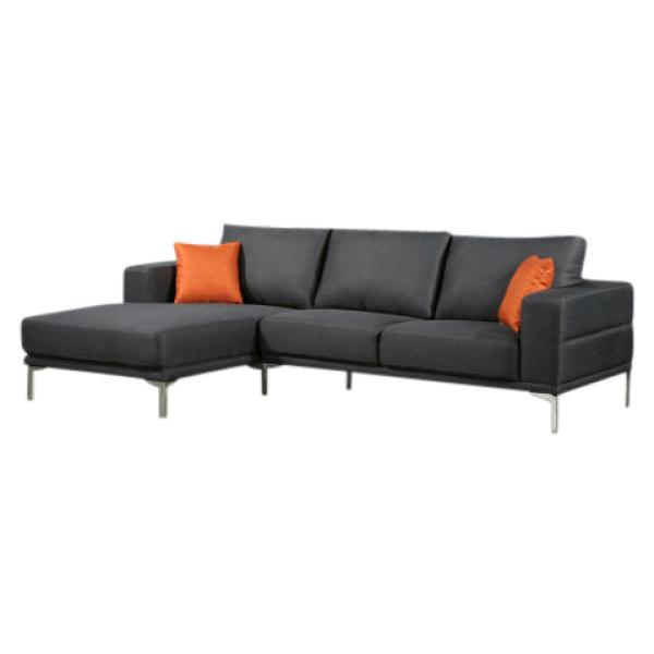 Dallas chaiselong sofa mørkegrå venstrevendt