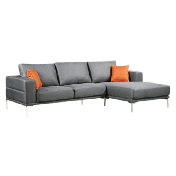 Dallas chaiselong sofa lysegrå højrevendt sofa