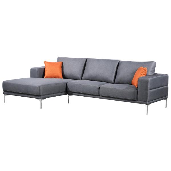 Dallas chaiselong sofa lysegrå venstrevendt sofa