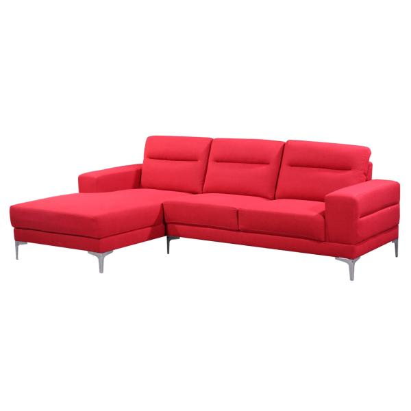 Bordeaux chaiselong rød venstrevendt sofa