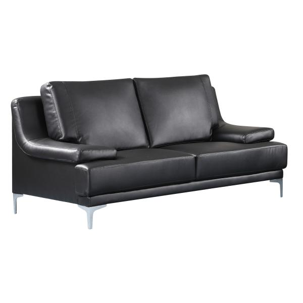 Lyon sofa 2 pers. sort PU sofa