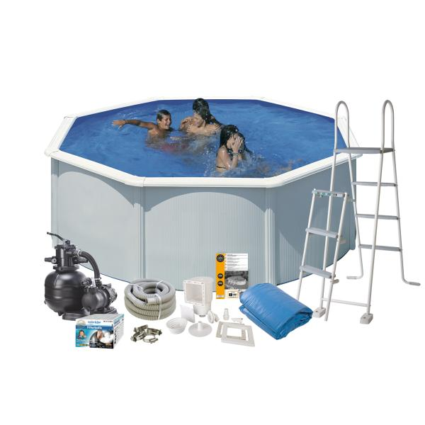 Swim & Fun Pool Basic hvid ø3,5x1,2m badebassin