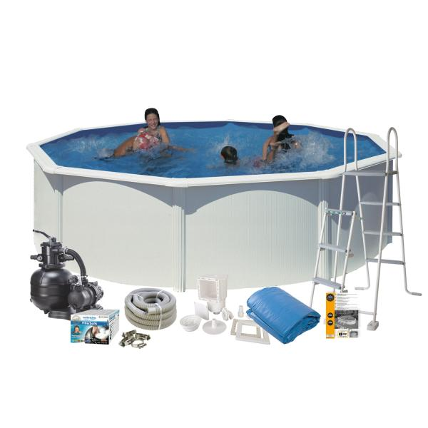 Swim & Fun Pool Basic hvid ø4,6x1,2m badebassin