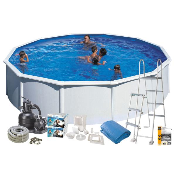 Swim & Fun Pool Basic hvid ø5,5x1,2m badebassin