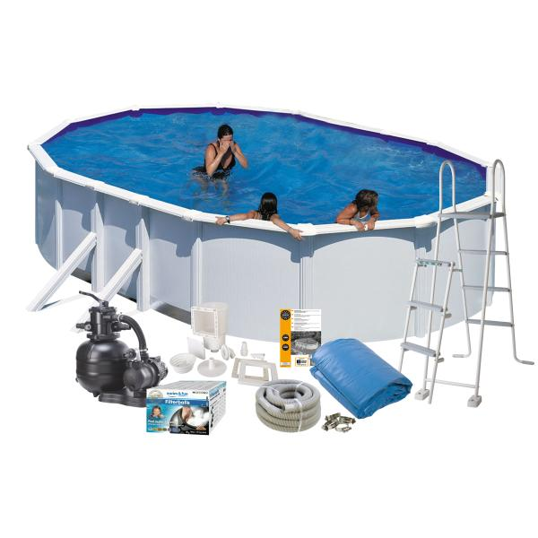 Swim & Fun Pool Basic hvid 6,1x3,75x1,2m badebassin