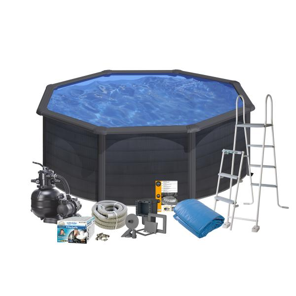 Swim & Fun Pool Basic sort ø3,5x1,2m badebassin