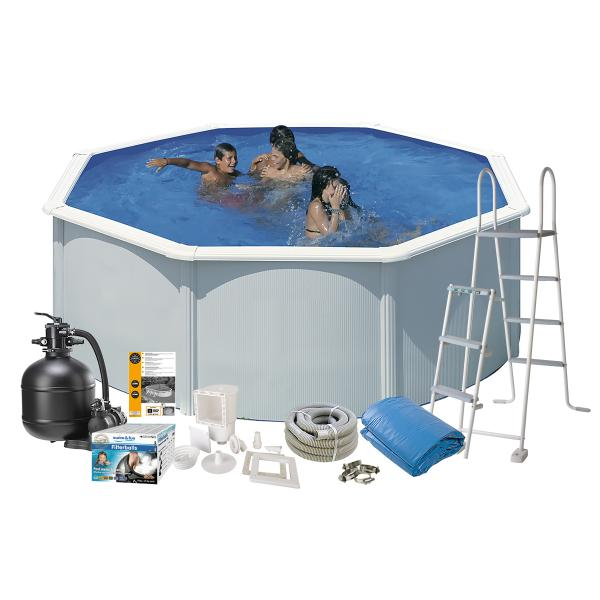 Swim & Fun Pool Basic hvid ø3,5x1,32m badebassin