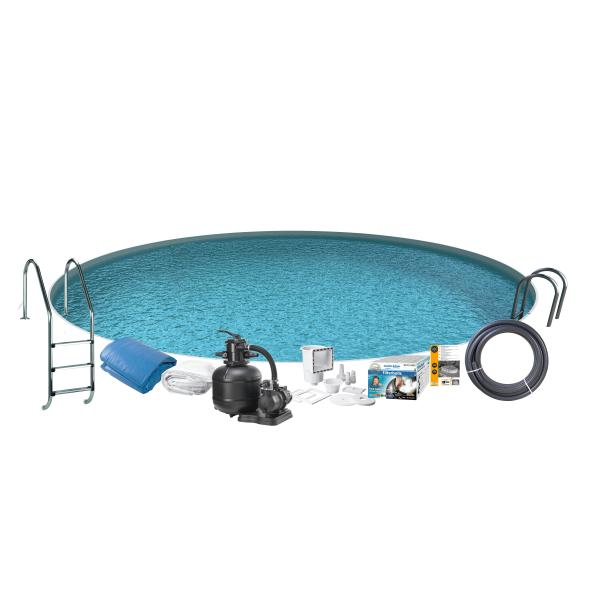 Swim & Fun Pool Basic InGround ø4,2x1,2m badebassin