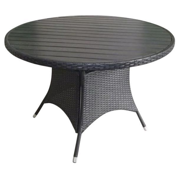 Rundt havebord i nonwood, sort , køb din nye Rundt havebord i ...