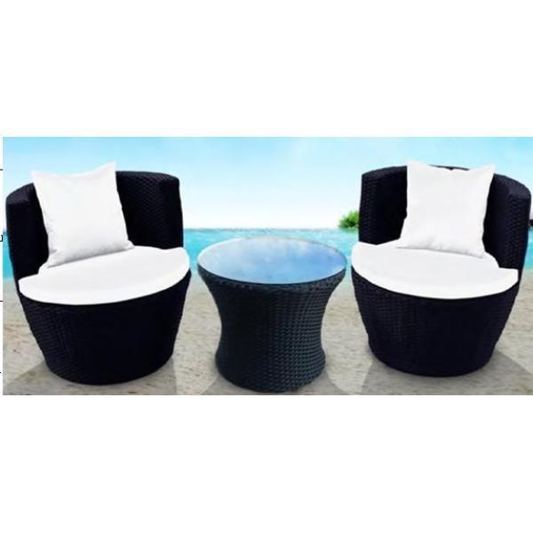 Loungesæt i polyrattan sort , køb din nye loungesæt i polyrattan ...