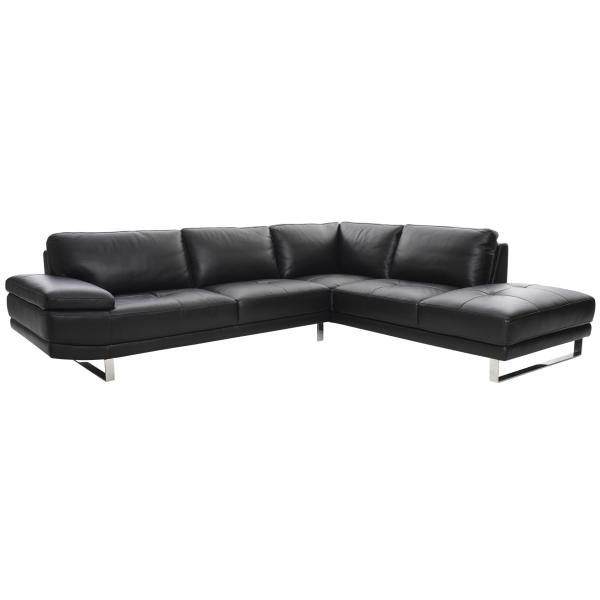 Malibu chaiselong sofa sort læder højrevendt sofa