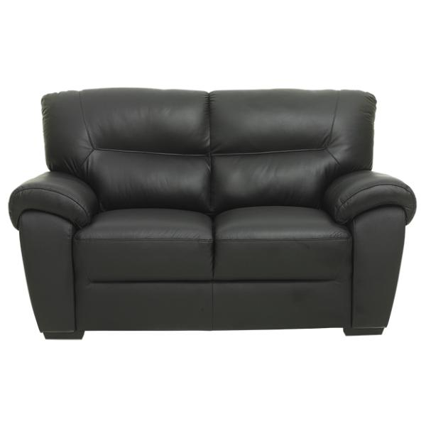 Bella 2 pers sofa sort læder sofa