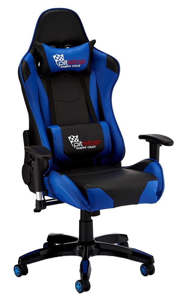 Gaming stol blåsort