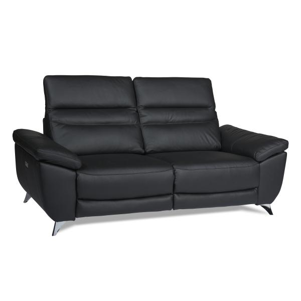 Porto 3 pers sofa sort læder sofa