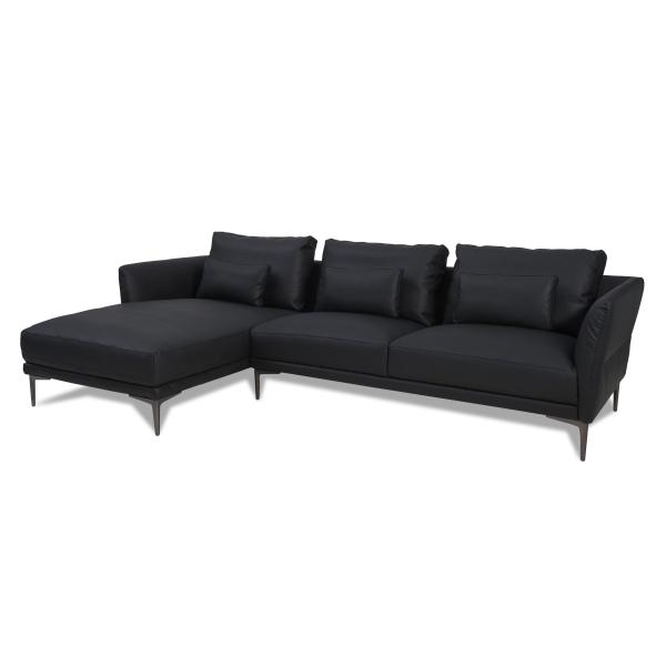 Baron chaiselong sort venstrevendt sofa