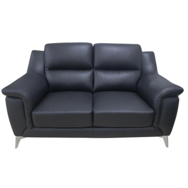 Alabama 2 pers sofa læder sort sofa