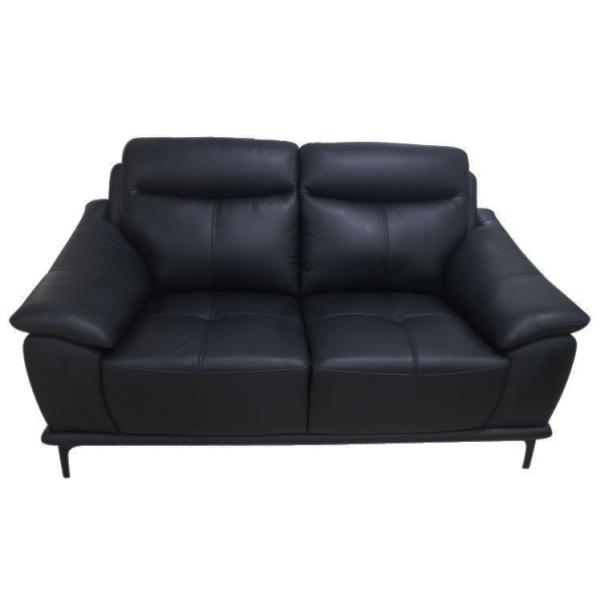 Bergen 2 pers sofa læder sort sofa