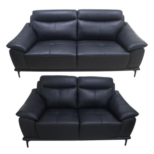 Bergen 3+2 pers sofa læder sort sofa