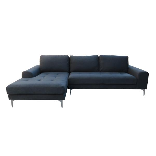 Nevada chaiselong venstrevendt sort sofa