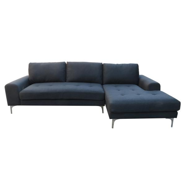 Nevada chaiselong højrevendt sort sofa