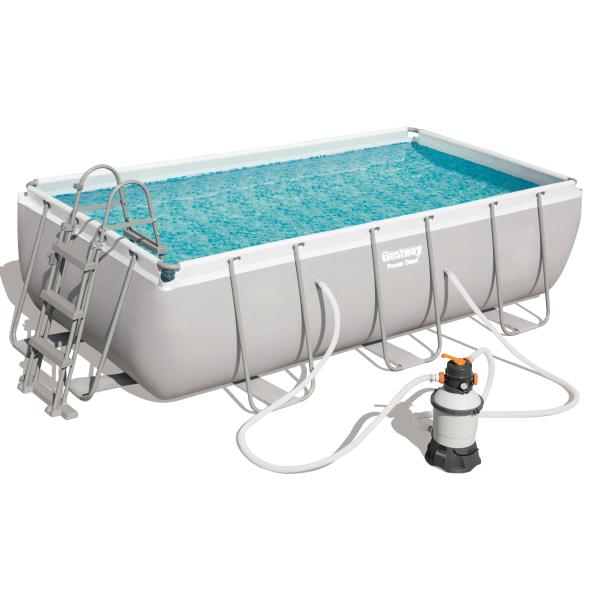 Power Steel pool 404x201x100cm badebassin