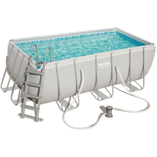 Power steel pool 412x201x122cm badebassin