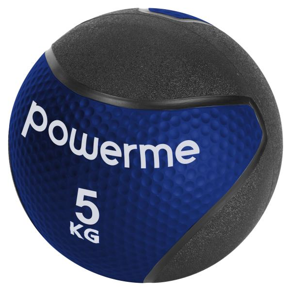 Powerme medicinbold 5kg blå/sort fitness