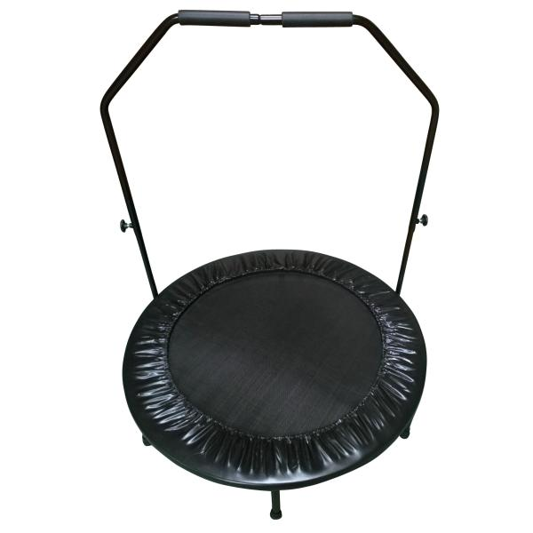 Powerme mini trampolin m. håndtag sort ø40cm fitness